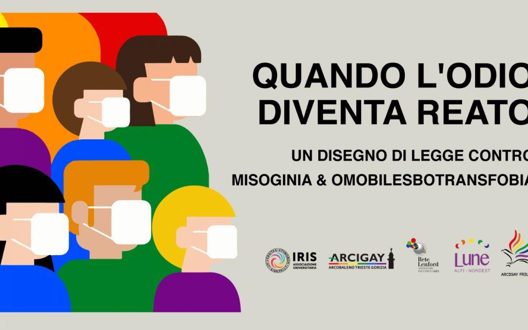 Quando l'odio diventa reato: dibattito sul ddl Zan – Trieste